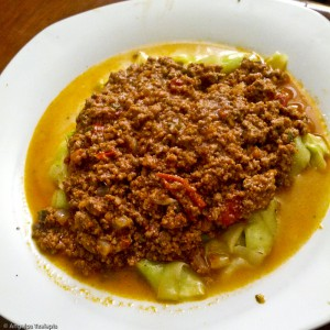 Zucchini Pasta with Meat Sauce